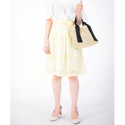 【ディアプリンセス】 マーガレットギンガムスカート レディース ホワイト 38 Dear Princess