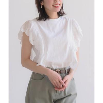 【アールピーエス】スカラップ刺繍Tシャツ