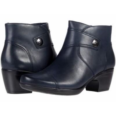 Clarks クラークス レディース 女性用 シューズ 靴 ブーツ アンクル ショートブーツ Emily Calle Navy Leather【送料無料】