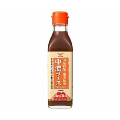 送料無料 ハグルマ JAS特級 国産野菜・果実使用 中濃ソース 200ml瓶×12本入