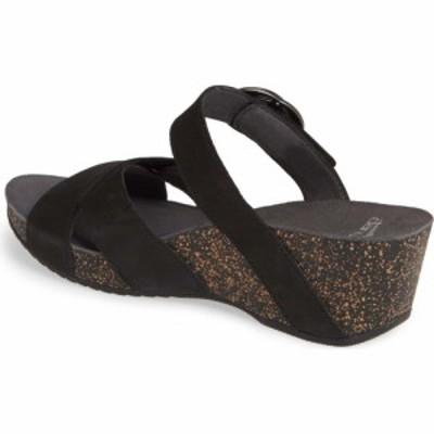 ダンスコ DANSKO レディース サンダル・ミュール シューズ・靴 Susie Platform Sandal Black Leather