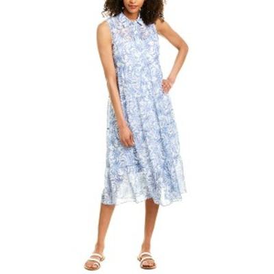 ロンドンタイムス レディース ワンピース トップス London Times Midi Dress denim