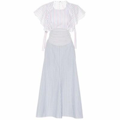 ロージーアスリン Rosie Assoulin レディース ワンピース ワンピース・ドレス Venn Diagram striped cotton dress Stripe Patchwork