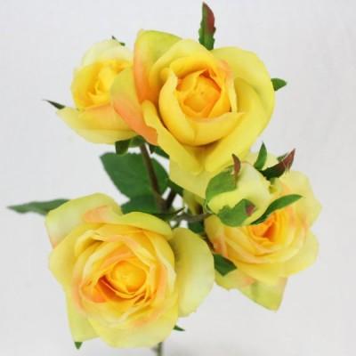【FIAN造花】ローズスプレーメンフィス5輪 YEL