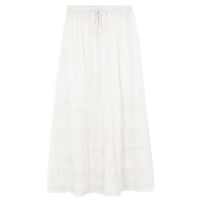 MY TWIN TWINSET ロングスカート アイボリー XS コットン 100% / ナイロン ロングスカート