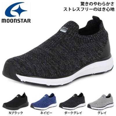スリッポン スニーカー ムーンスター MoonStar メンズ シナジークッション SNGY M07 軽量 幅広 3E シューズ 靴 SNGY-M07 得割20