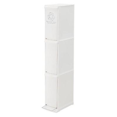 北海道・沖縄・離島配送不可 代引不可 ゴミ箱 ダストボックス 3D 分別 30L 高さ118cm 3段 日本製 角型 スリム ストッカー