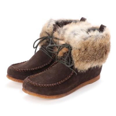シューズラウンジ アウトレット shoes lounge OUTLET ショートブーツ 2561164DBRS (ブラウン)