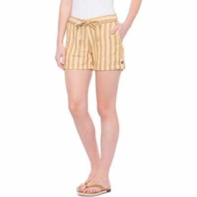 パスィ Per Se レディース ショートパンツ ボトムス・パンツ striped linen drawstring shorts Gold/White/Navy Stripe