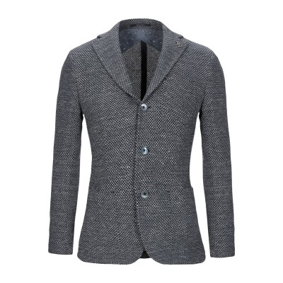 パオローニ PAOLONI テーラードジャケット ダークブルー 54 コットン 80% / リネン 20% テーラードジャケット