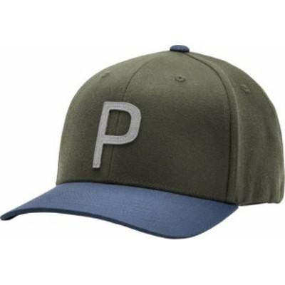 プーマ メンズ 帽子 アクセサリー PUMA Men's Throwback P 110 Snapback Golf Hat Deep Lichen Green