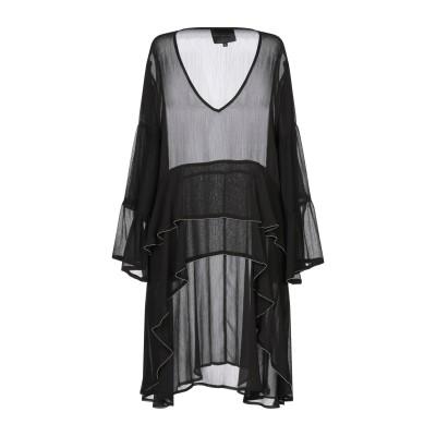 HOTEL PARTICULIER ミニワンピース&ドレス ブラック L ポリエステル 100% ミニワンピース&ドレス