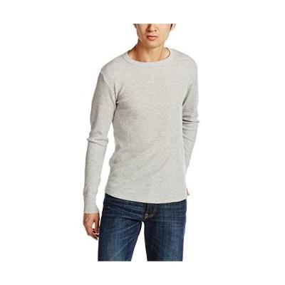 [ヘインズ] (旧モデル) Tシャツ サーマル 長袖 クルーネック HM4-G501 メンズ ヘザーグレー 日本 M (日本サイズM相当)