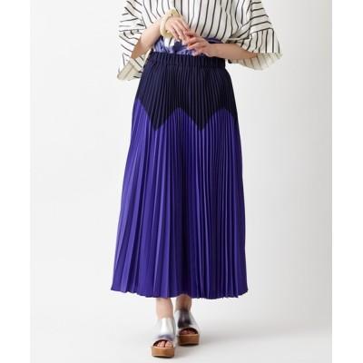 ふりふ / ジグザク配色プリーツスカート WOMEN スカート > スカート