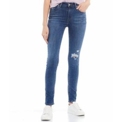 リーバイス レディース デニムパンツ ボトムス Levi'sR 721 Destructed High Rise Skinny Jeans Lapis Blues