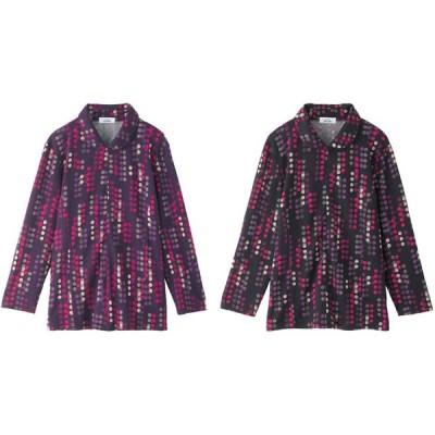 衿付ロングファスナーTシャツ M〜L 97854 ケアファッション