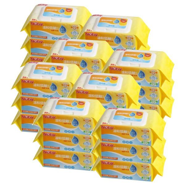 Nuby EDI超純水柔濕巾(88抽/3包x8串24包|箱購)【麗兒采家】