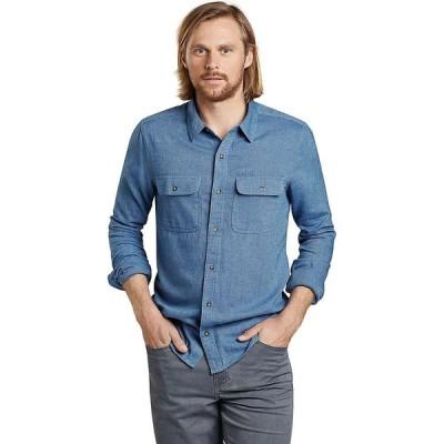 トードアンドコー Toad & Co メンズ シャツ スリム ネルシャツ トップス Me's Indigo Flannel Slim LS Shirt Light Indigo Twill