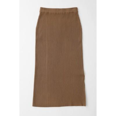 【マウジー/MOUSSY】 RIB KNITLONG スカート