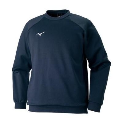 ミズノ  スウェットシャツ ネイビー(32jc717514)  スポーツ用品 取り寄せ