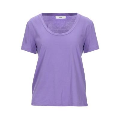 SUOLI T シャツ ライトパープル 42 コットン 100% T シャツ
