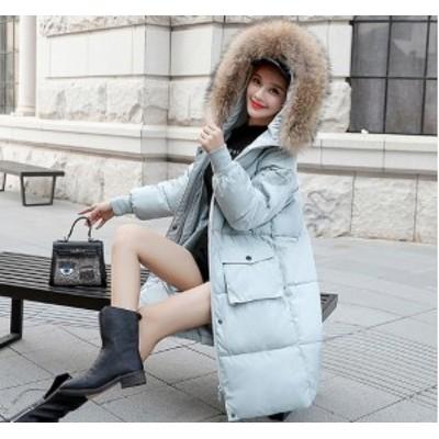 冬新作 ダウンコート ロング レディース服 大人 冬服 コート アウター 防寒性抜群 フード付き 膝 軽い かわいい 中綿入り 中綿ジャケット