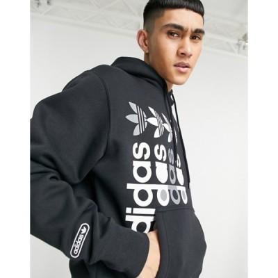 アディダス メンズ パーカー・スウェット アウター adidas Originals Forum hoodie in black and pink