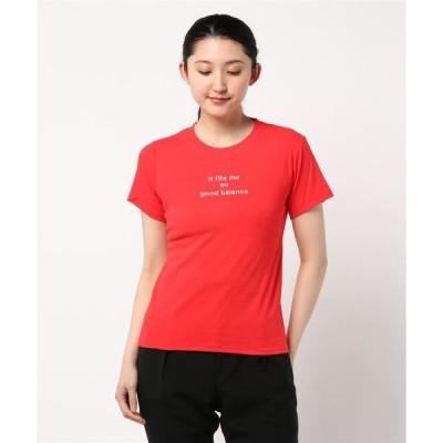 tシャツ Tシャツ 刺繍ロゴシンプルちびTシャツ