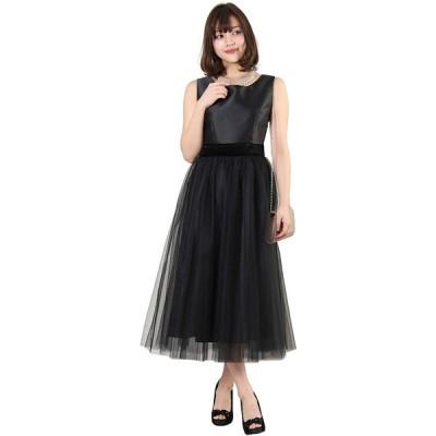 アールズガウン ワンピース 結婚式 パーティー 演奏会 大きいサイズ 成人式 お呼ばれ クラシック チュール ブルー ブラック FD-250081 (