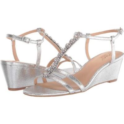 バッジェリー ミシュカ Jewel Badgley Mischka レディース サンダル・ミュール シューズ・靴 Farah Silver