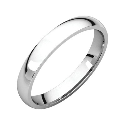 Jewels By Lux 925 Sterling Silver 3 mm Polished Light Comfort Fit Mens