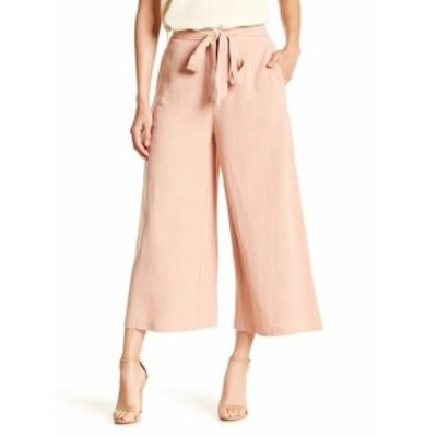 ファッション パンツ Mo Vint NEW Pink Womens Size Medium M Capris Cropped Belted Gaucho Pants #241