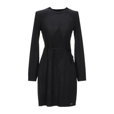 ディースクエアード DSQUARED2 ミニワンピース&ドレス ブラック XS ウール 100% ミニワンピース&ドレス