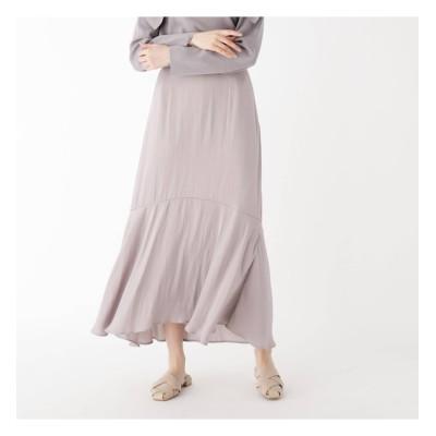 【オペークドットクリップ/OPAQUE.CLIP】 ヴィンテージサテンマーメイドスカート