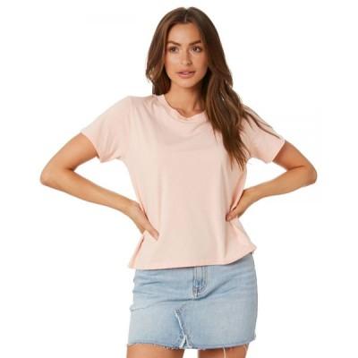 エーエスカラー As colour レディース Tシャツ トップス Cube Tee Pink