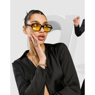 エイソス ASOS DESIGN レディース ブラウス・シャツ スリム トップス Asos Design Slim Fit Satin Shirt In Black ブラック