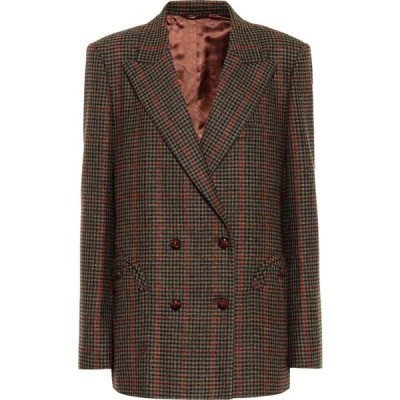 ブレイズ ミラノ Blaze Milano レディース スーツ・ジャケット アウター everynight checked wool blazer Green
