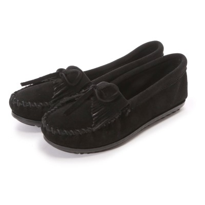 ミネトンカ MINNE TONKA KILTY SUEDE MOC(Black)