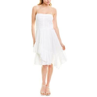 デレクラムテンクロスバイ ワンピース トップス レディース Derek Lam 10 Crosby Asymmetrical Hem Cami Dress optic white