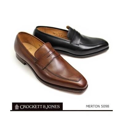 ローファー メンズ カジュアル ブラウン/ブラック クロケット&ジョーンズ CROCKETT&JONES 靴 メンズ ローファー スリッポン