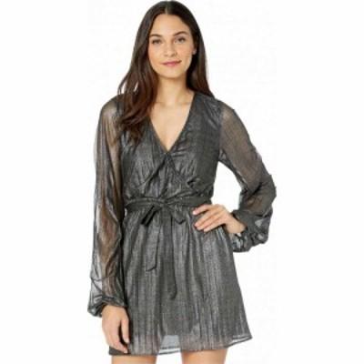 サンクチュアリ Sanctuary レディース パーティードレス ラップドレス ワンピース・ドレス Its Party Time Faux Wrap Dress Black Shine