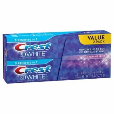 クレスト Crest 3D ホワイト ラディアントミント ホワイトニング 歯磨き粉 116g x 2個