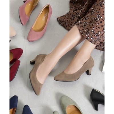 パンプス 【入学式・結婚式・フォーマルシーン対応靴】機能系5cmローヒール美脚ベーシックパンプス