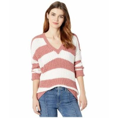 ウミーユアムーム レディース ニット&セーター アウター Shaw Sweater Mauve Stripe Knit