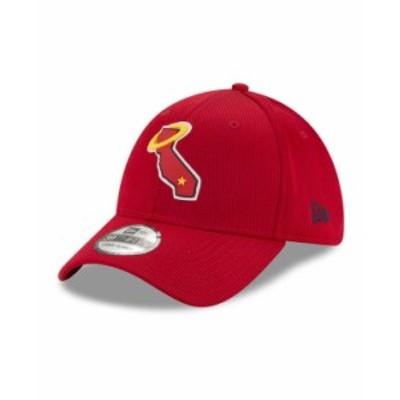 ニューエラ メンズ 帽子 アクセサリー Los Angeles Angels  Clubhouse 39THIRTY Cap Red