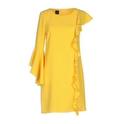 ピンコ PINKO ミニワンピース&ドレス イエロー 40 100% ポリエステル ミニワンピース&ドレス
