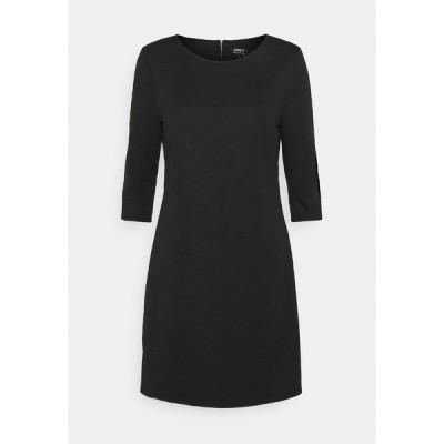 オンリー ワンピース レディース トップス ONLJOYCE 3/4 DRESS  - Jersey dress - black