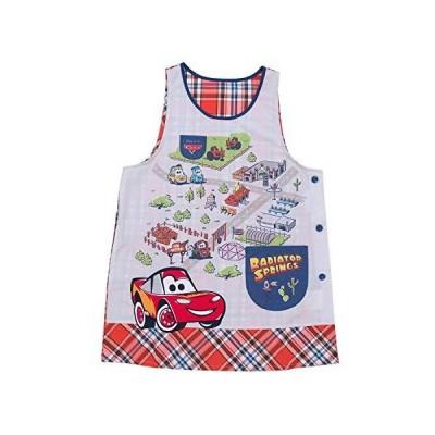 キャラクターエプロン カーズ ライトニング・マックィーン 保育士 保育園 幼稚園 サイドボタン 刺繍 アップリケ