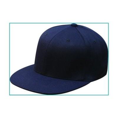 """Original Navy Blue Flexfit Flatbill L/XL 7 1/4"""" - 7 5/8"""" Premium Fitted 210 Hat Cap Flex Fit Flat Bill【並行輸入品】"""