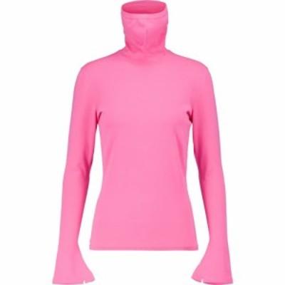 バレンシアガ Balenciaga レディース ニット・セーター タートルネック マスク トップス Mask turtleneck sweater Pink